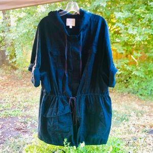 💋Torrid Linen black Anorak jacket Sz 2X